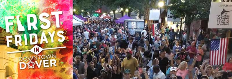 First Friday's in Downtown Dover